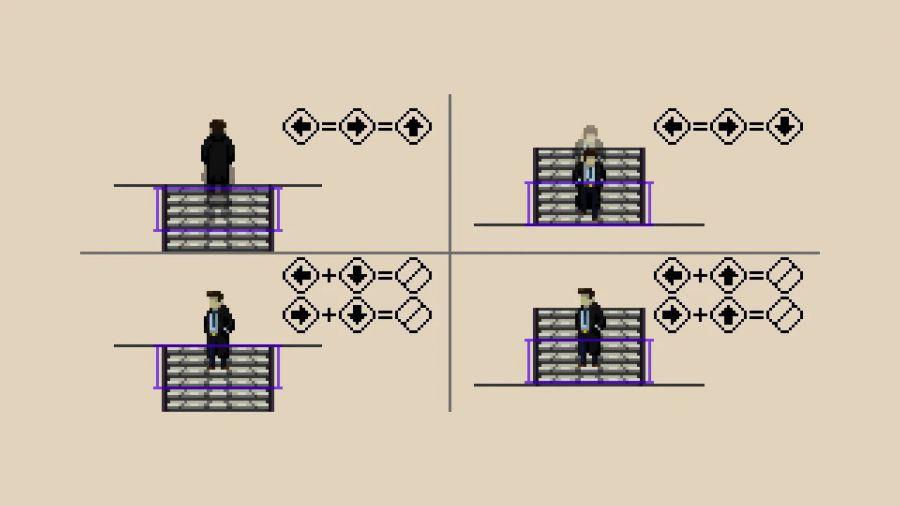 在 2D 横向卷轴游戏里上下楼梯